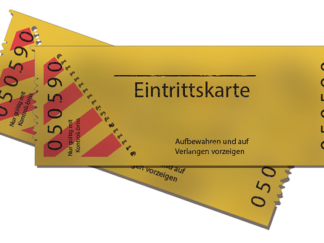 Ticket / Eintrittskarte